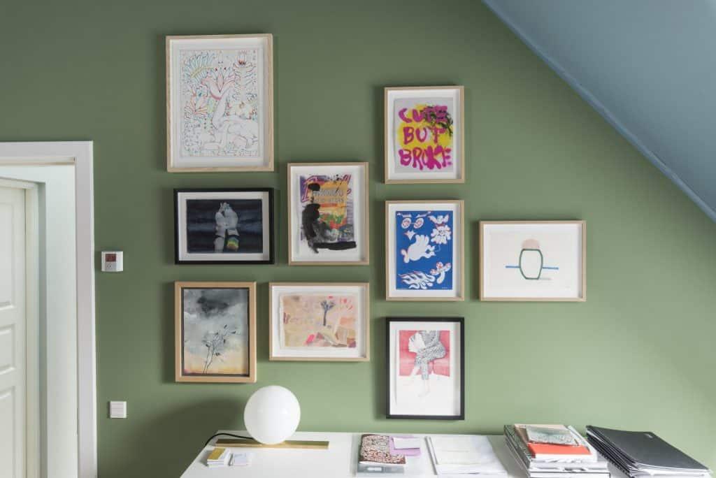 Artworks by Alphachanneling, Slawomir Elsner, Michael Kvium, Carly Mark, Eytan Messiah, Ellie Andrews, and Oscar Grønner