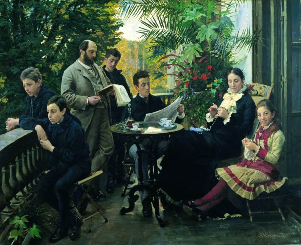 P.S. Krøyer: The Hirschsprung family portrait, 1881.