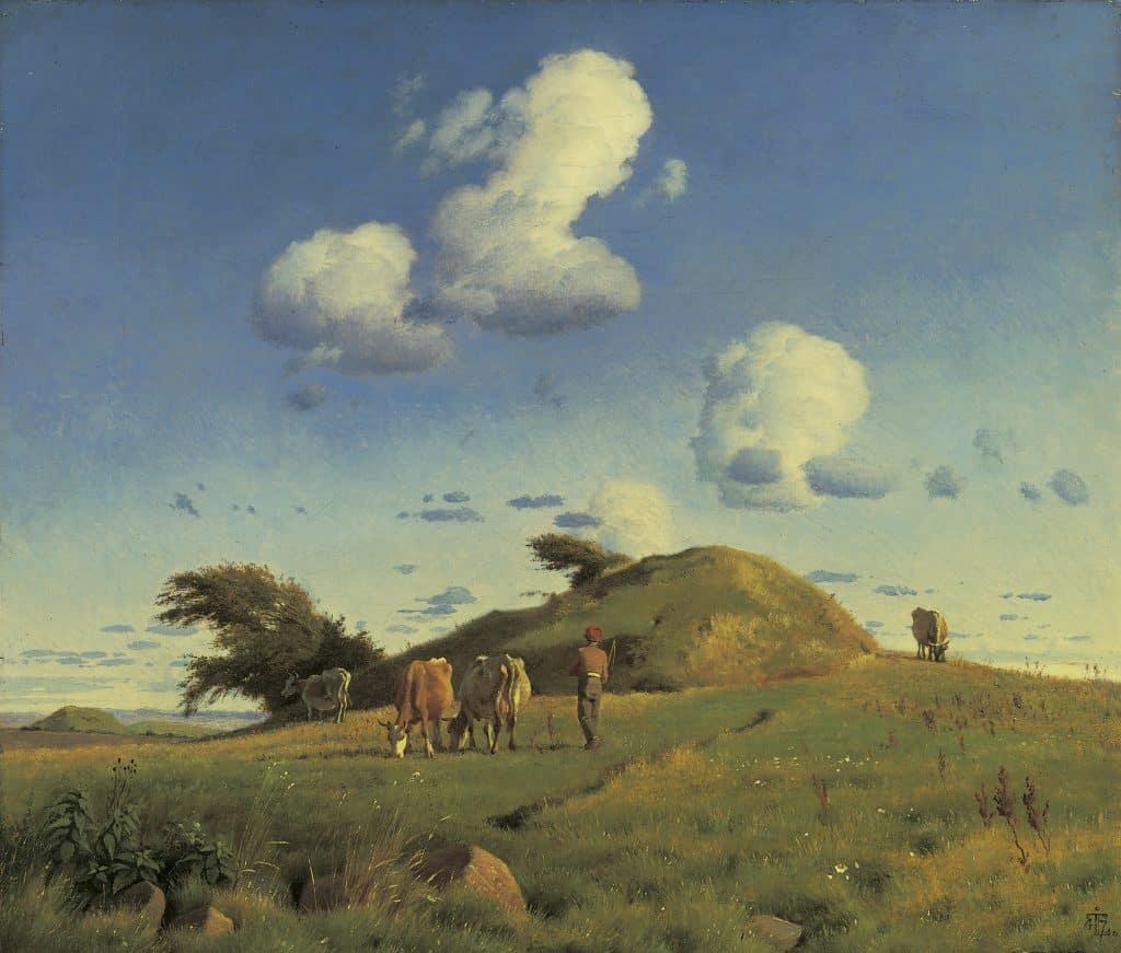 Johan Thomas Lundbye: Hankehøj near Vallekilde, c. 1846.