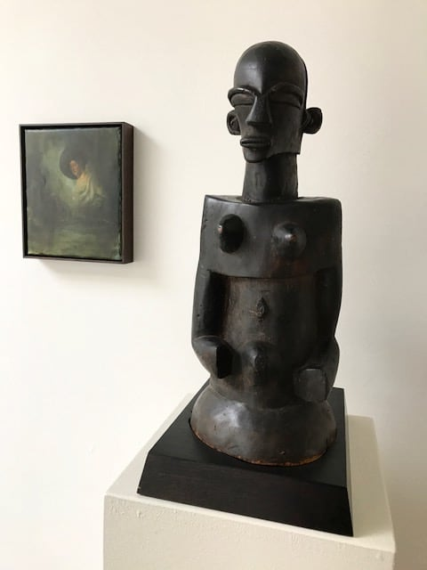 Christopher Orr & Songe Luba statue from the beginning of the 20th century