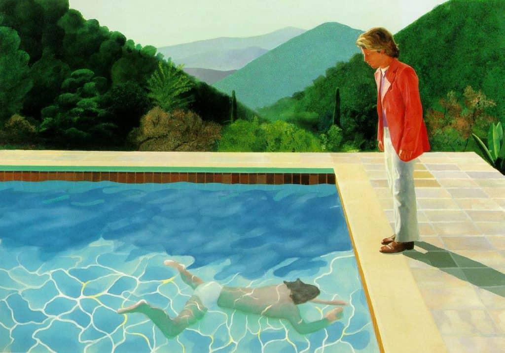 David Hockney pop art pool. We Always See With Memory.