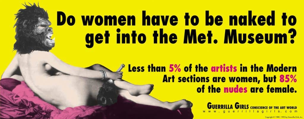 Guerilla Girls, Do Women have to be naked to get into the Met. Museum?, 1989 artworks