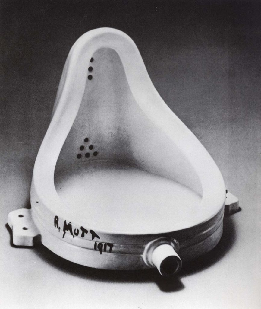 Marcel Duchamp, Fountain, 1917.