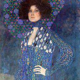 Gustav Klimt, Detail of Portrait of Emilie Louise Flöge. Muse definition
