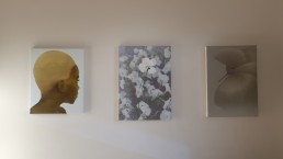 Katinka Lampe (405015, 2012) next to Marijke van Warmerdam (Green penducle, 2009) and Peter Vos (Untitled, 2008)