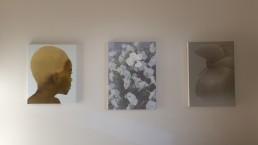 Katinka Lampe (405015, 2012) next to Marijke van Warmerdam (Green penducle, 2009) and Peter Vos (Untitled, 2008)