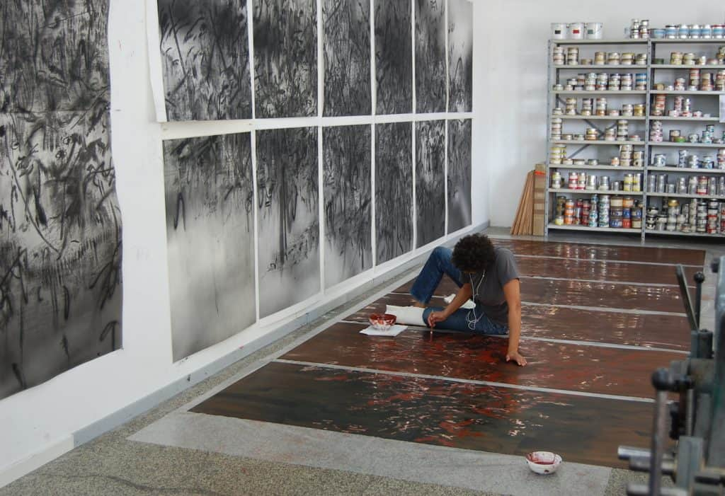 Julie Mehretu in Print Studio