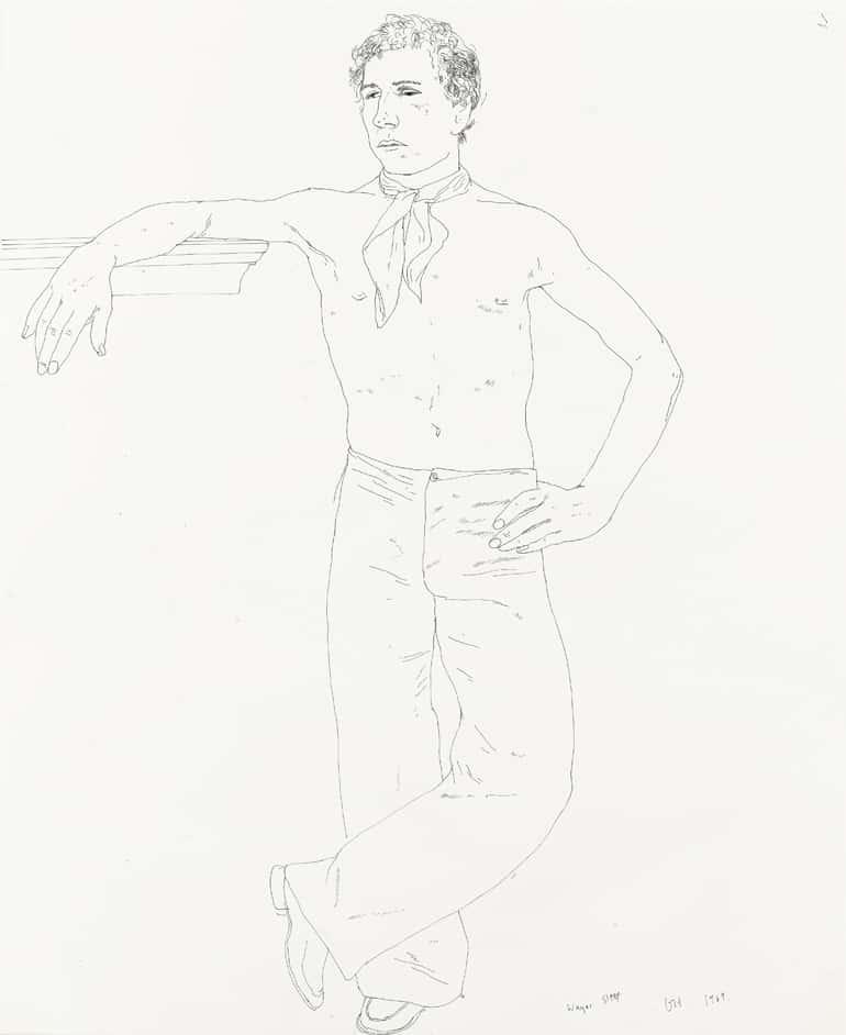 David Hockney, Wayne Sleep (1989)