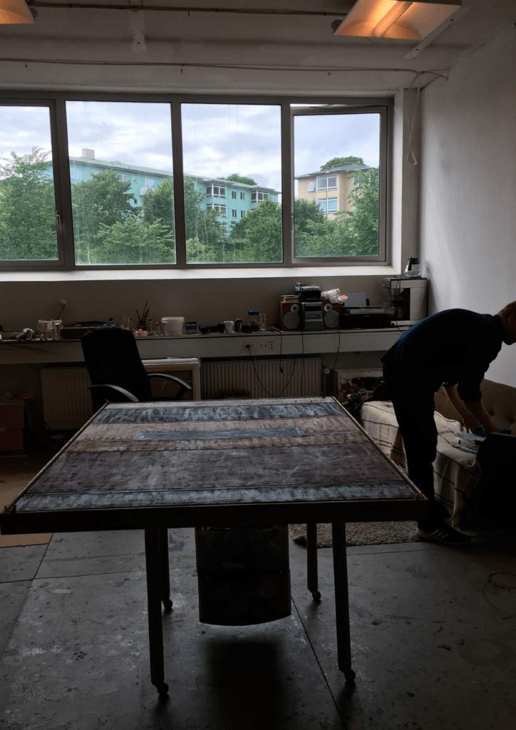 Søren Sejr in his studio
