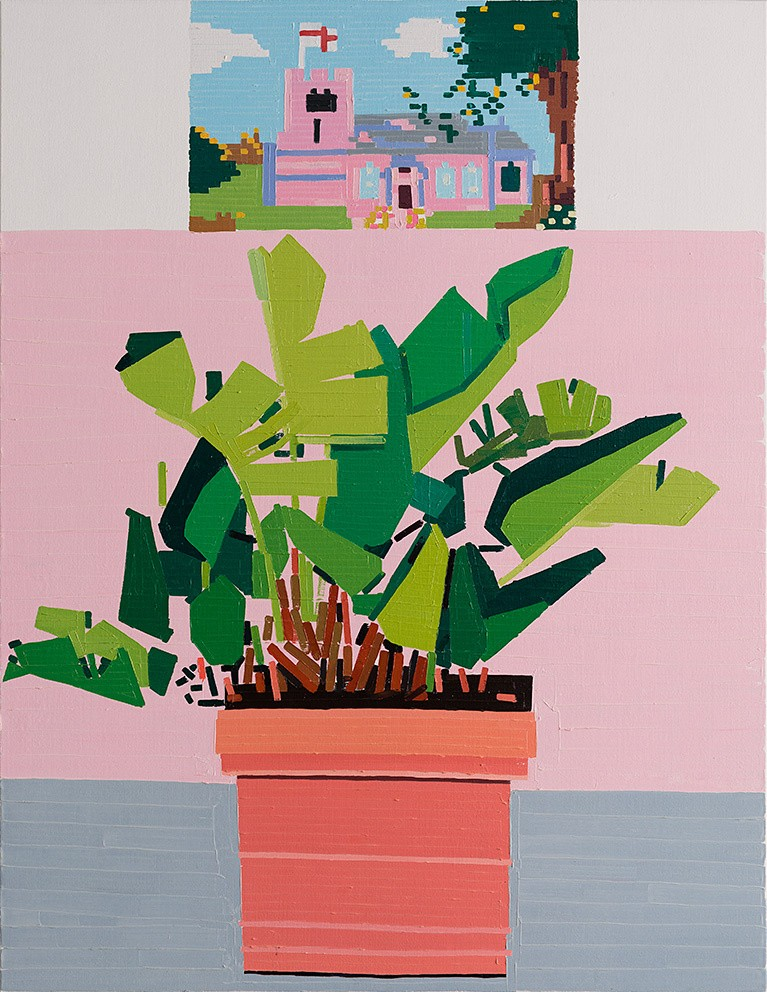 End of Europe (Siracusa), oil on linen, by Guy Yanai