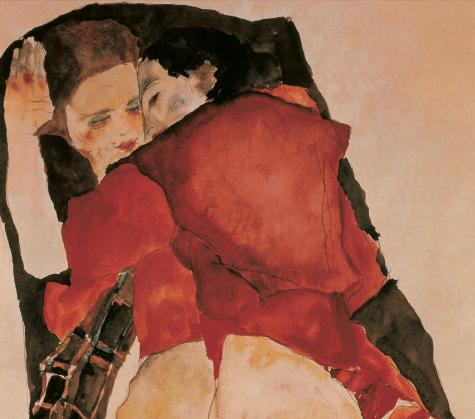 Egon Schiele, Two Girls (lovers)