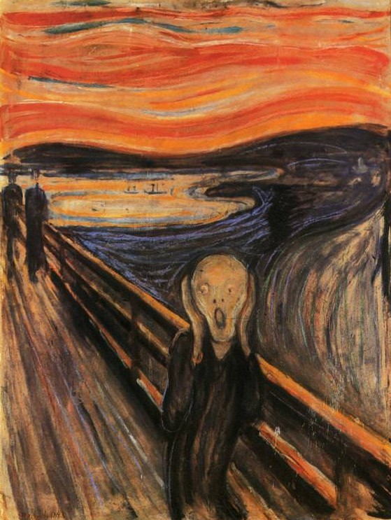 """Edvard Munch, The Scream. Painting reproduced in """"Expressionism"""" by Ashley Bassie"""