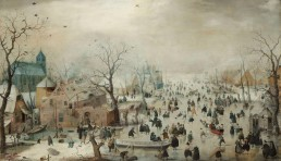 Hendrick Avercamp - Winter Landscape with Ice Skaters