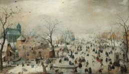 Hendrick Avercamp - Winter Landscape with Ice Skaters