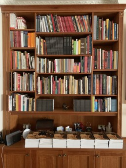 Nirmalya Kumar's bookshelf dedicated exclusively to art books