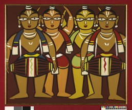 The Drummers (early 1940s) by Jamini Roy
