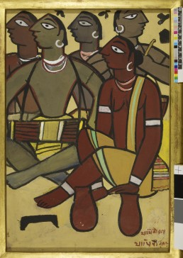 The Drummers (early 1930s) by Jamini Roy