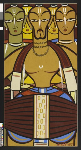 The Drummers (early 1950s-60s) by Jamini Roy