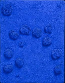 Yves Klein - Blue Monochrome Sponge Relief (RE24)