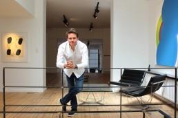 Quentin Grosjean in his gallery