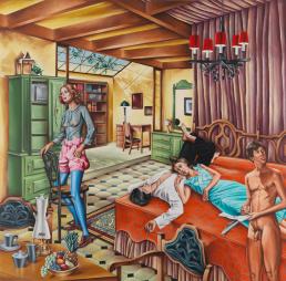 Mark Greenwold, Spanish Mediterranean Bedroom, Mark Greenwold