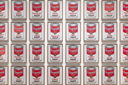 Andy Warhol Pop Art. Campbell's Soup Cans.