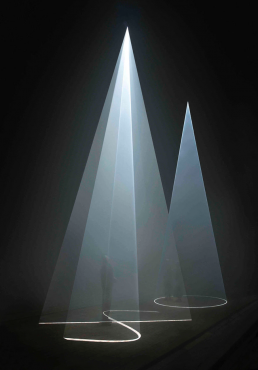 Anthony McCall. Between You and I, (2006). Installation view, Peer/The Round Chapel, London. Photograph by Hugo Glendinning. Light Art