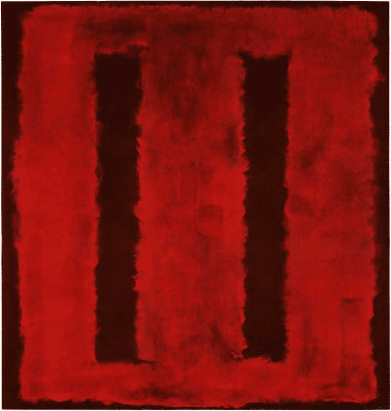 Abstract Expressionism. Mark Rothko, Untitled (Seagram Murals), 1958.