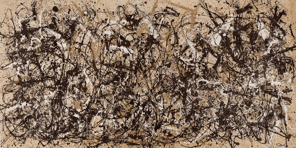 Abstract expressionism. Jackson Pollock, Autumn Rhythm, 1950.