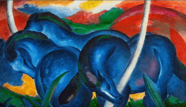 Franz Marc, Blue Horses, 1911