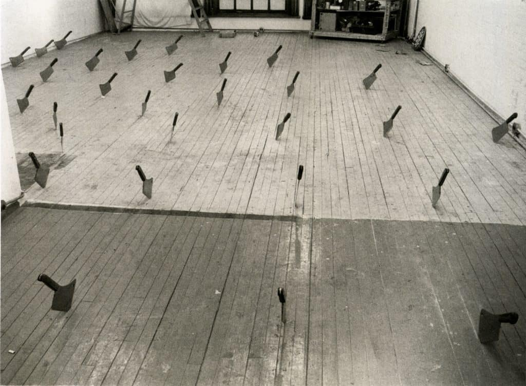 Barry Le Va, Cleaved Floor, New York studio view 1969-70.