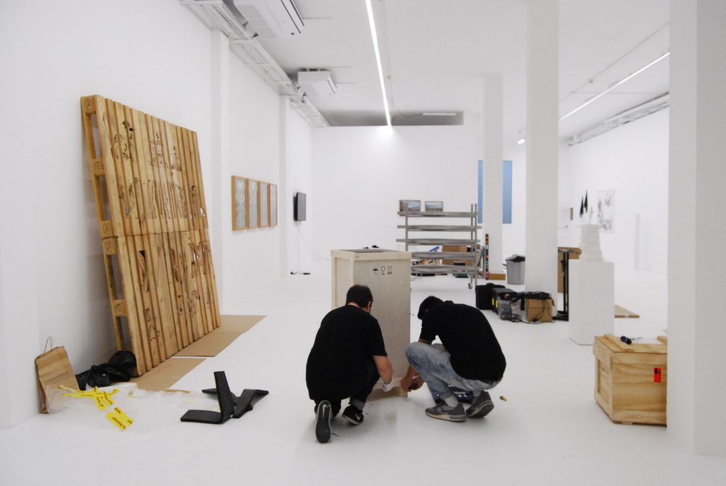Installations underway at Galeria ADN