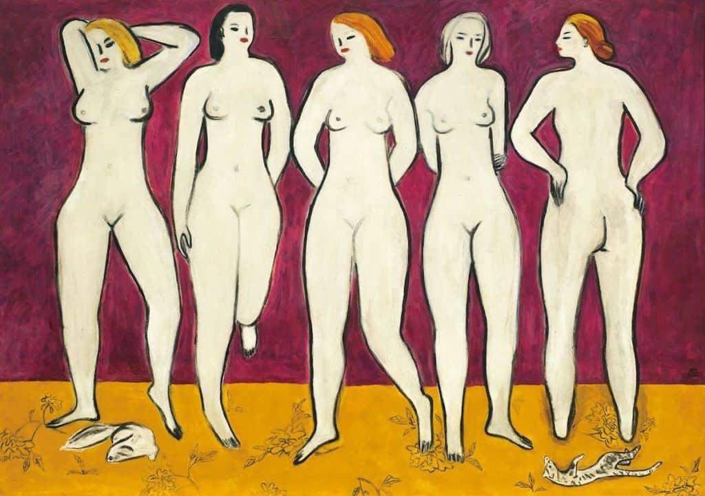 Five Nudes, ca. 1955