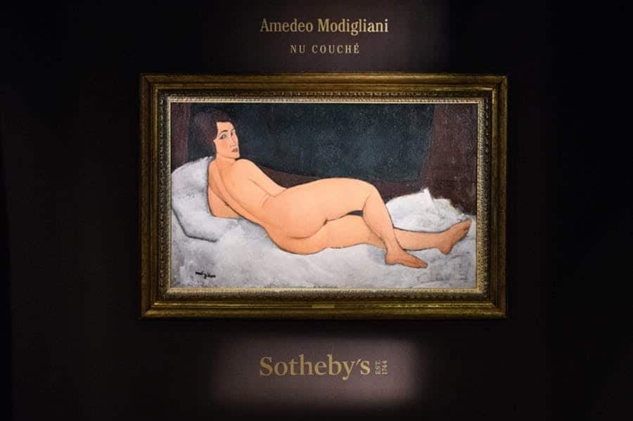 most expensive paintings, 2018, Modigliani