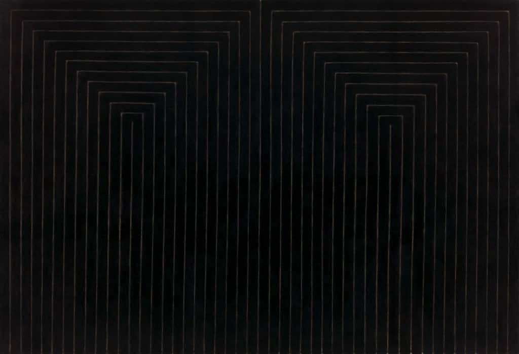 The Marriage of Reason and Squalor, II (1959) by Frank Stella