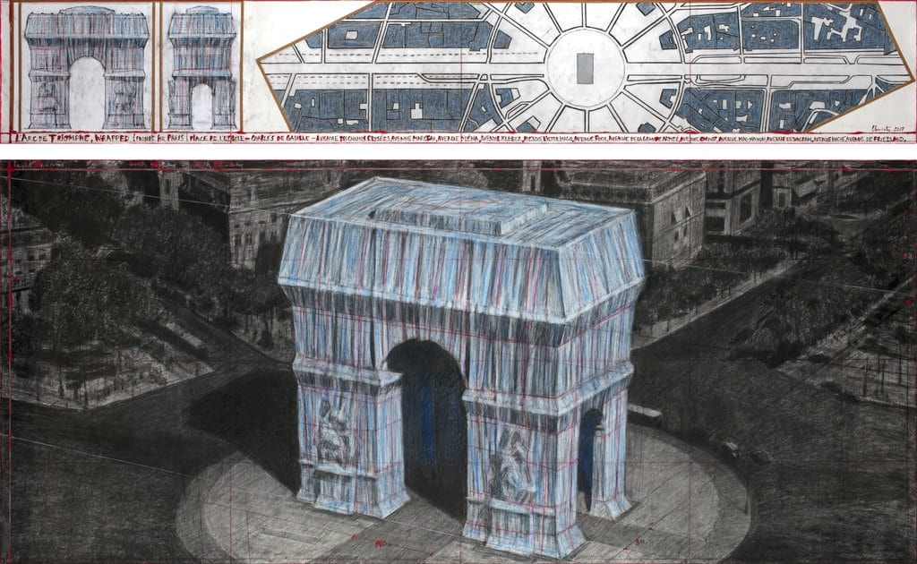 Christo, L'Arc de Triomphe, Wrapped