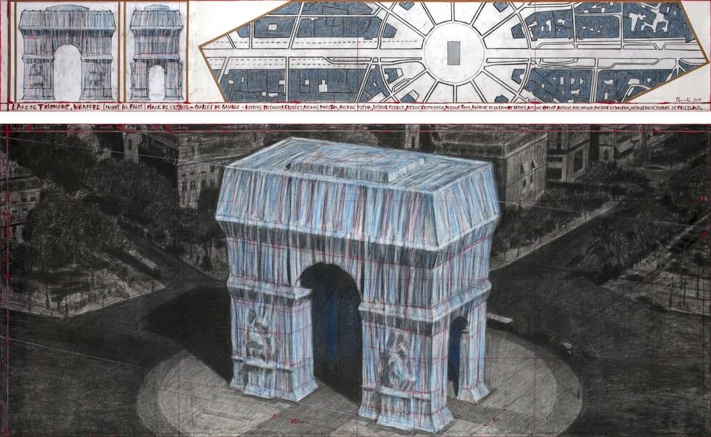 Christo, L'Arc de Triomphe, Wrapped