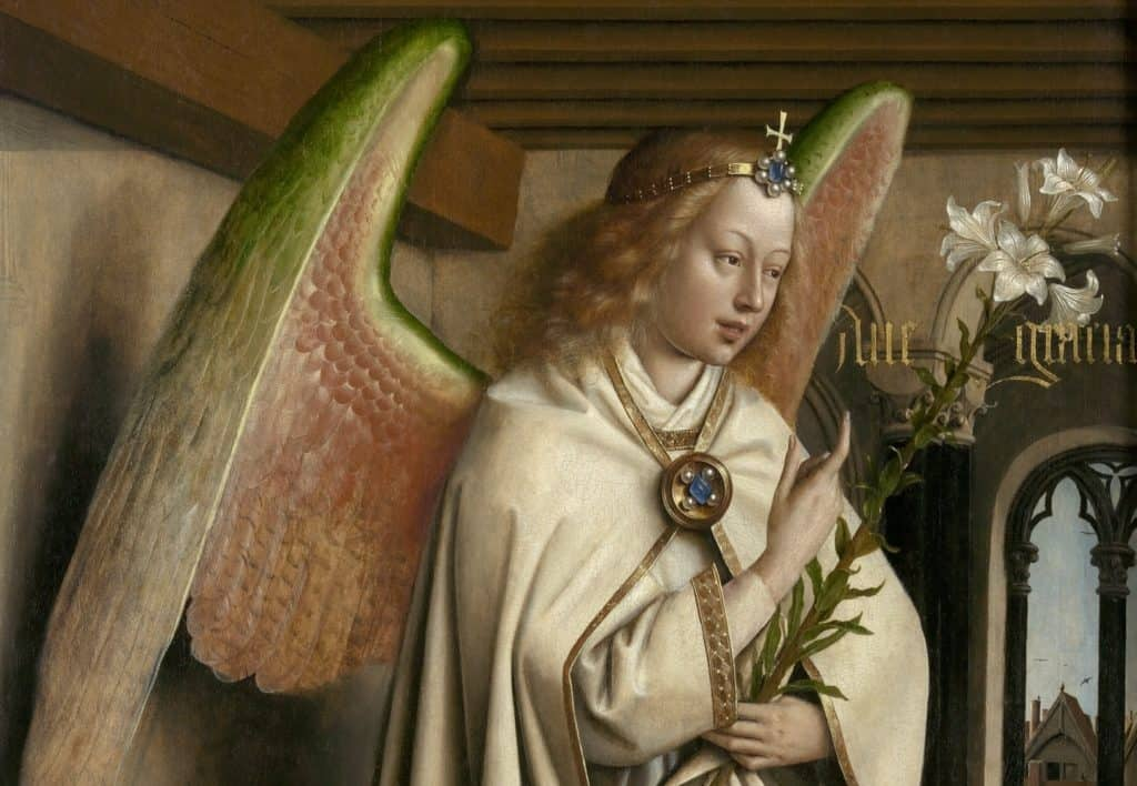Jan van Eyck, Gabriel (detail) - Saint Bavo's Cathedral