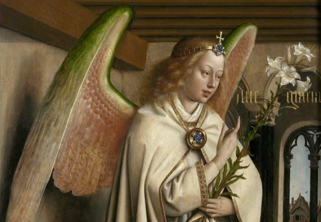 Jan van Eyck, Gabriel (detail) - Saint Bavo's Cathedral