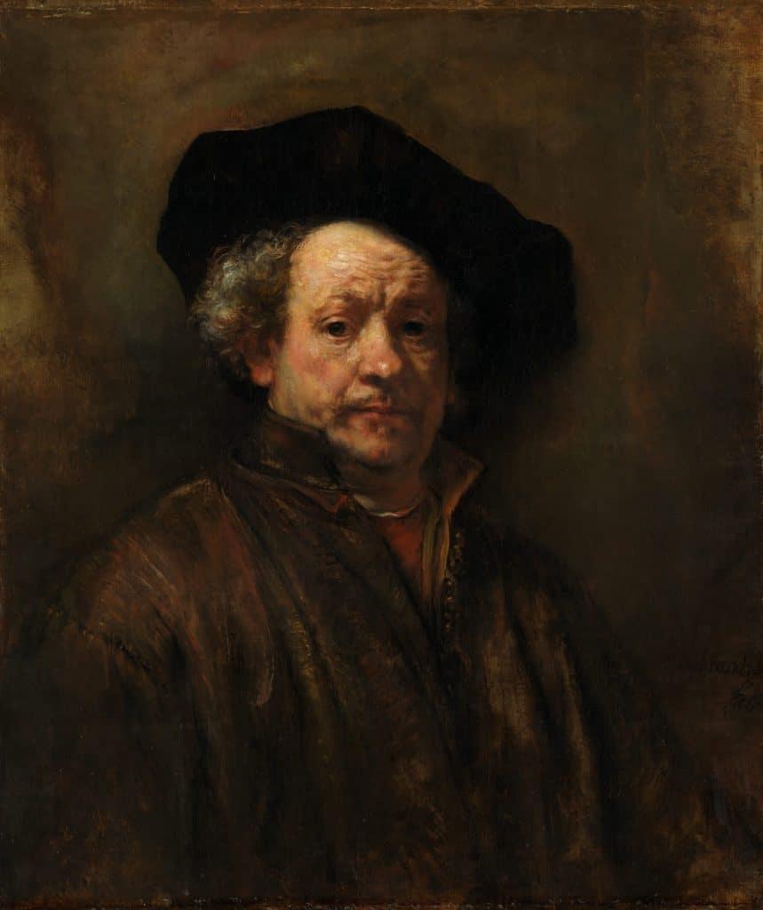 Rembrandt, Self-Portrait, 1660.