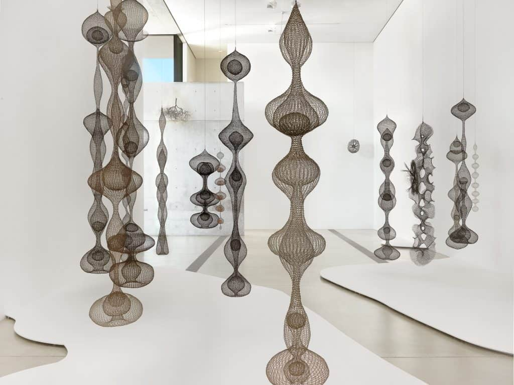 Installation view of Ruth Asawa: Life's Work, 2018–19.