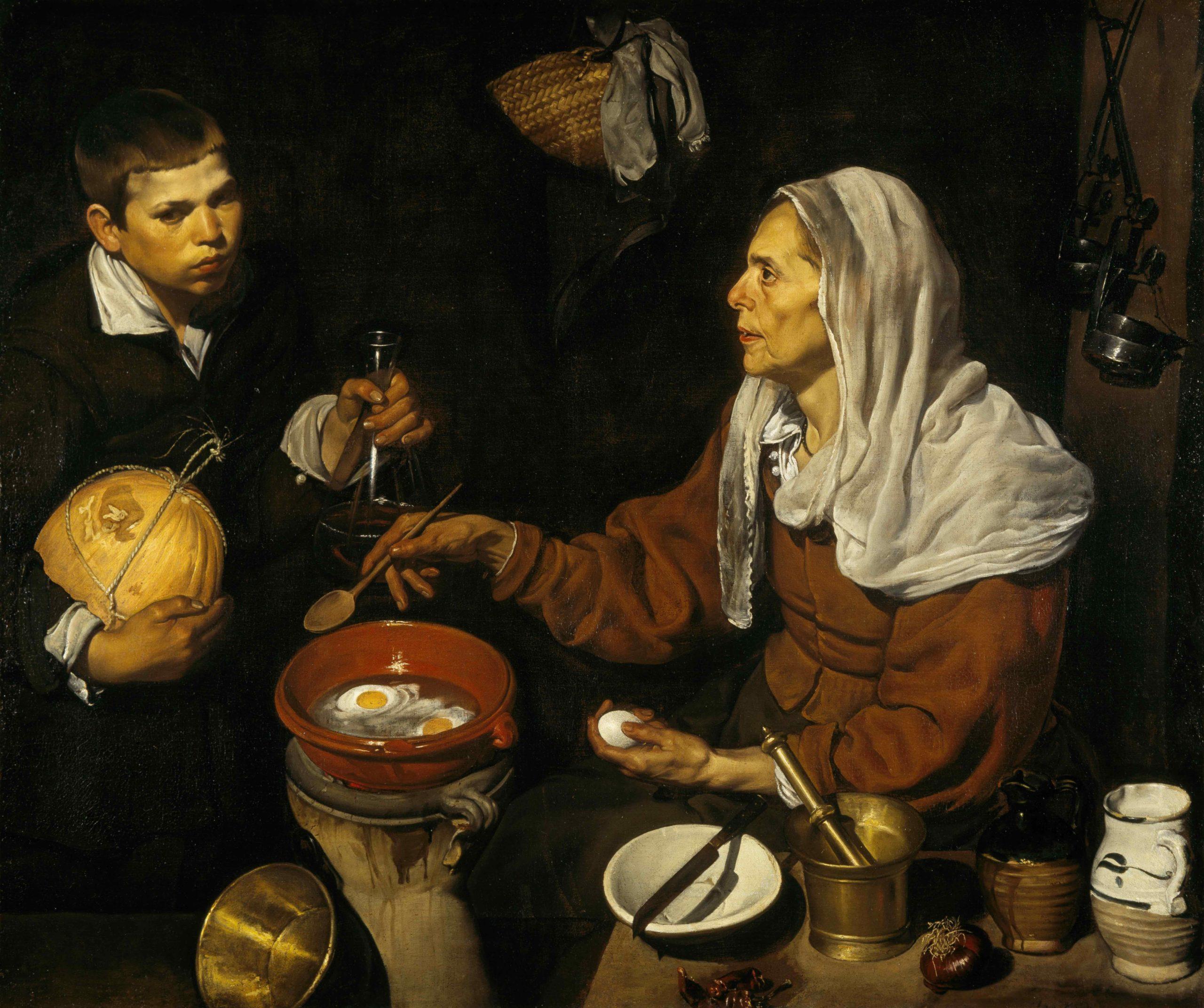 Velázquez, Old Woman Frying Eggs, 1618.