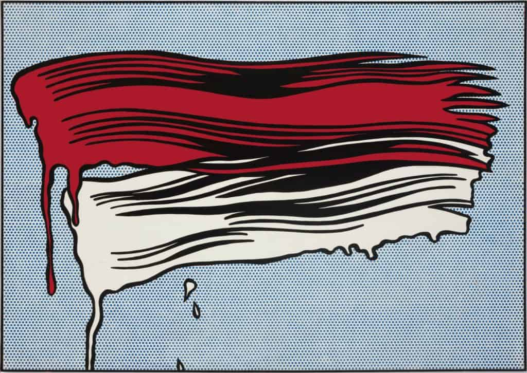 Roy Lichtenstein, Red and White Brushstrokes.