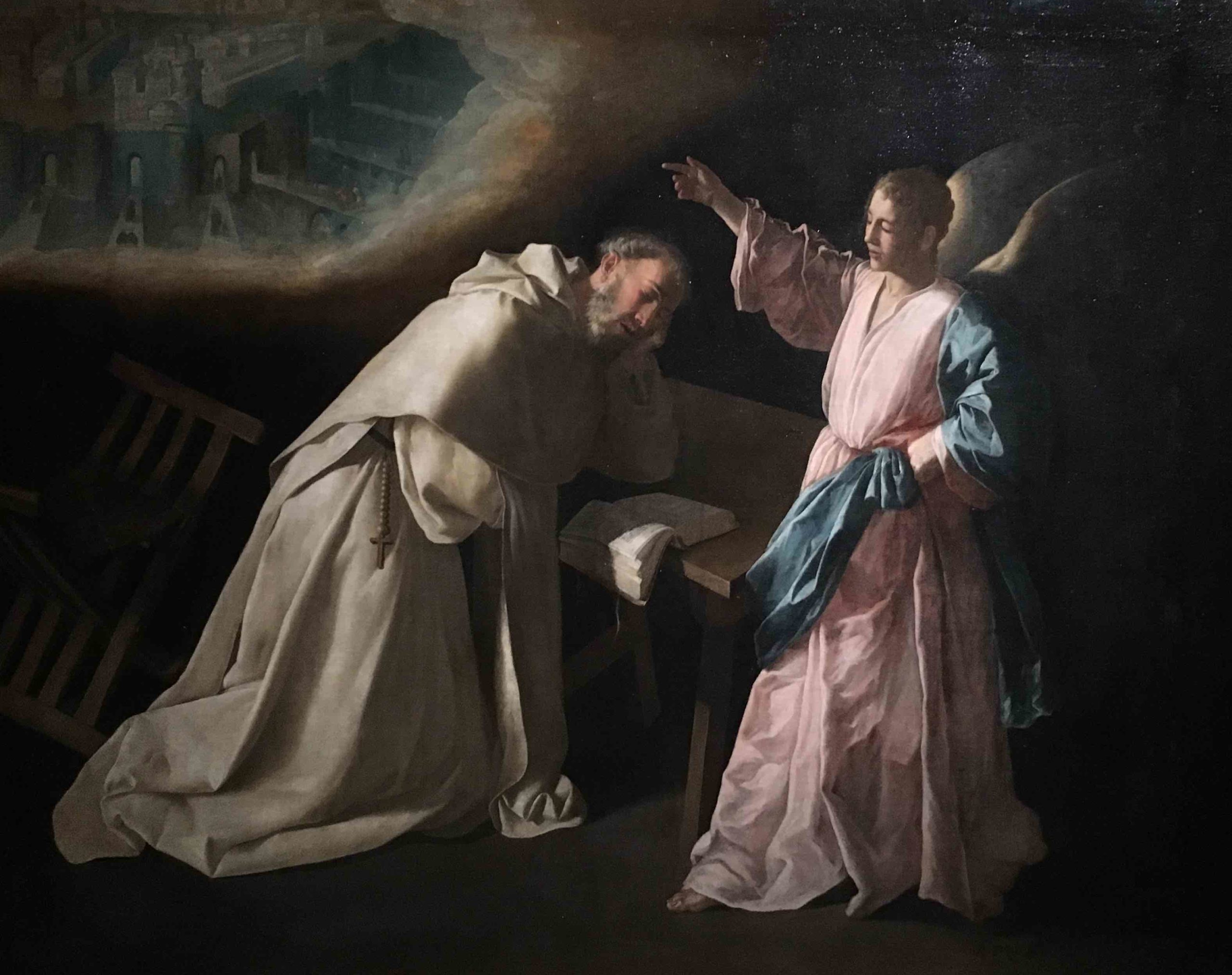 Francisco de Zurbarán, The Vision of Saint Peter Nolasco, 1629.