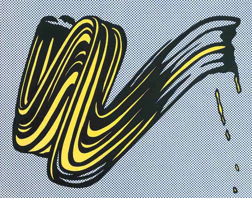 Roy Lichtenstein, Brushstroke, 1965