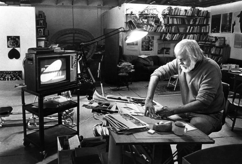 John Baldessari in his Santa Monica studio in 1986