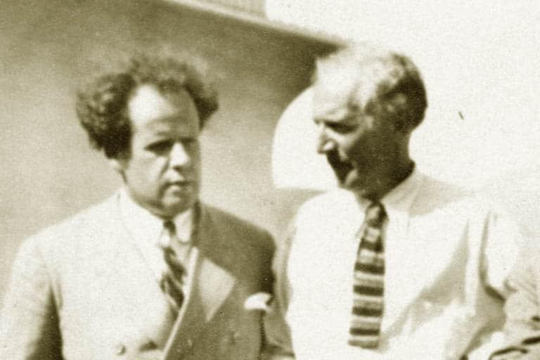Sergei Eisenstein and Upton Sinclair in Mexico
