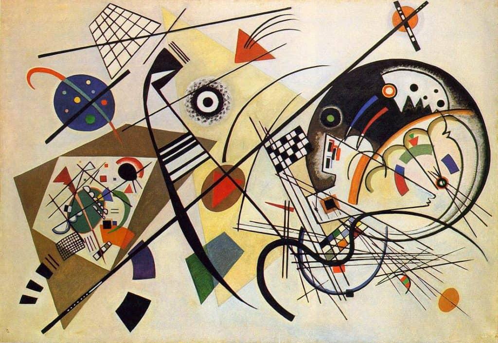 Wassily Kandinsky, Transverse Line, oil on canvas.