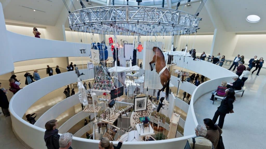 Maurizio Cattelan, All, 2012. Guggenheim installation view