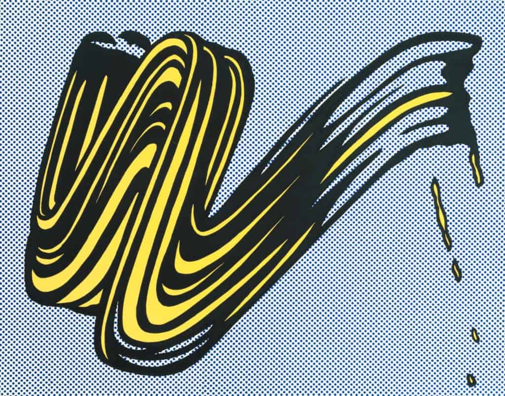 Brushstroke (1965) by Roy Lichtenstein